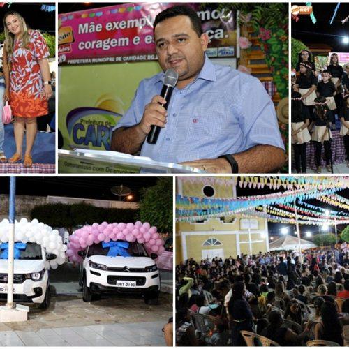 CARIDADE | Toninho entrega três veículos novos e sorteia mais de 100 presentes no São João das Mães