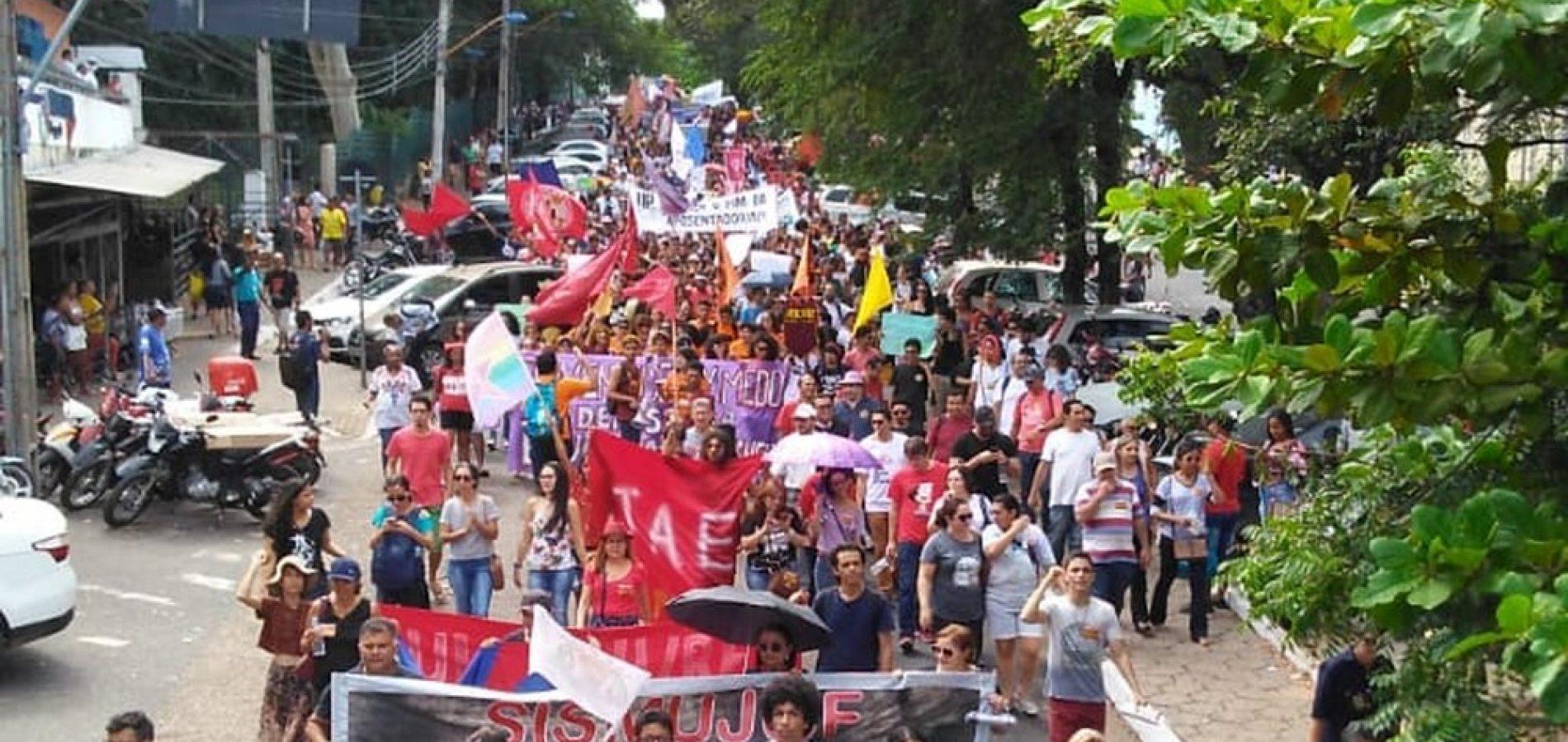 Protestos contra a reforma da Previdência afetam transporte e aulas em Teresina