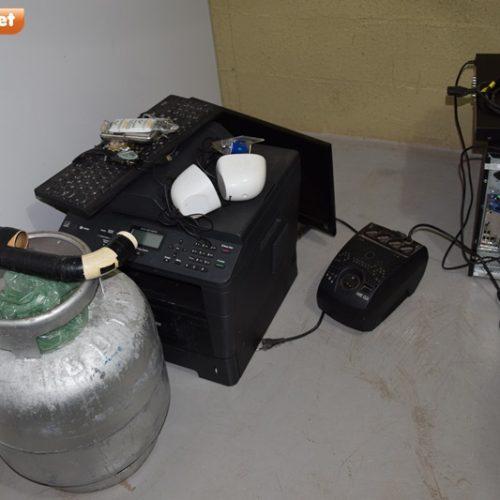 PICOS | Polícia recupera material roubado em escola no Paquetá