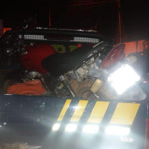 PRF recupera motocicleta adulterada na BR 407 em Geminiano