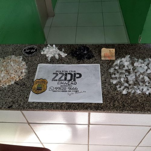 Homem é preso com 325 pedras de crack vendendo em via pública no Piauí