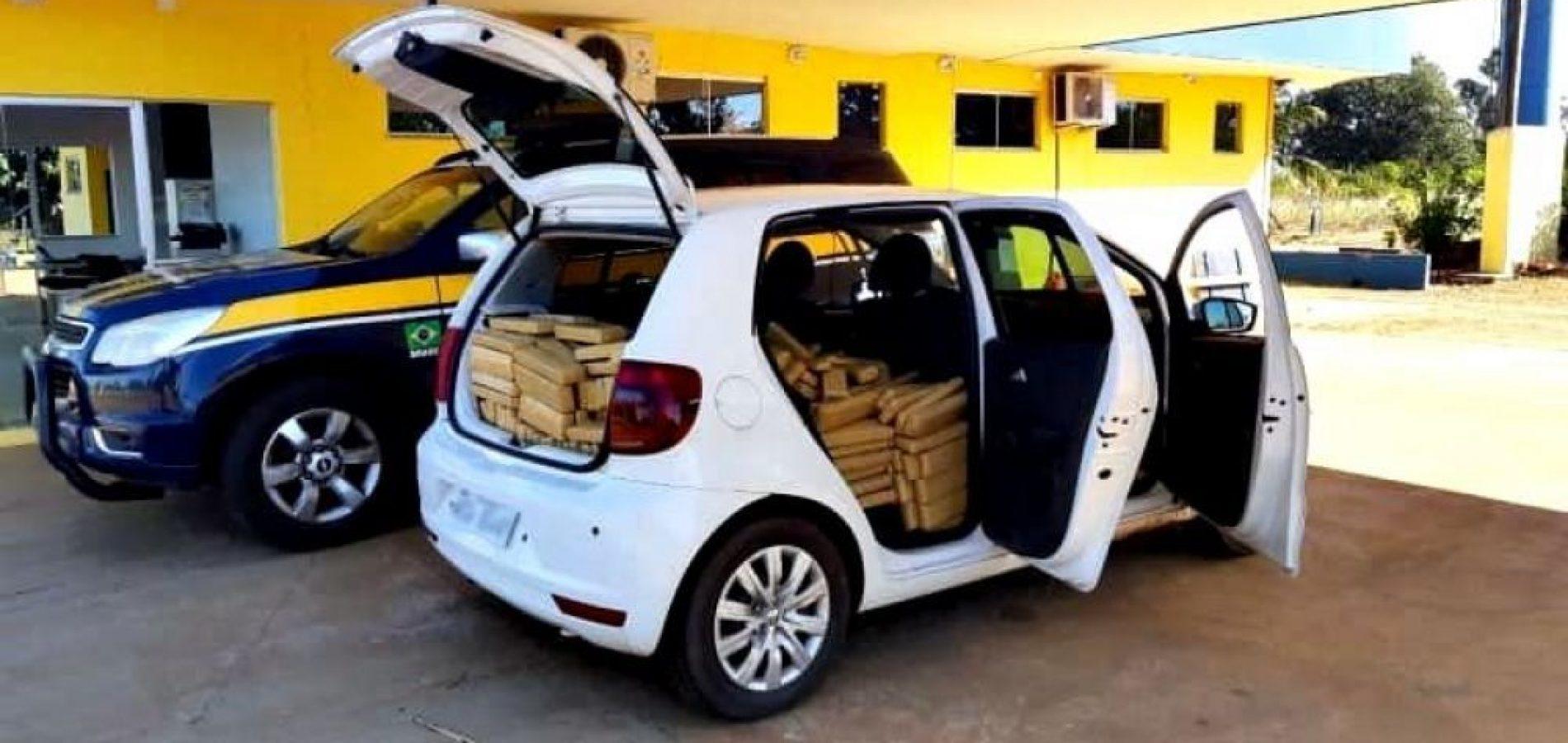 Veículo com placa falsa de Teresina é apreendido com mais de 600 Kg de maconha