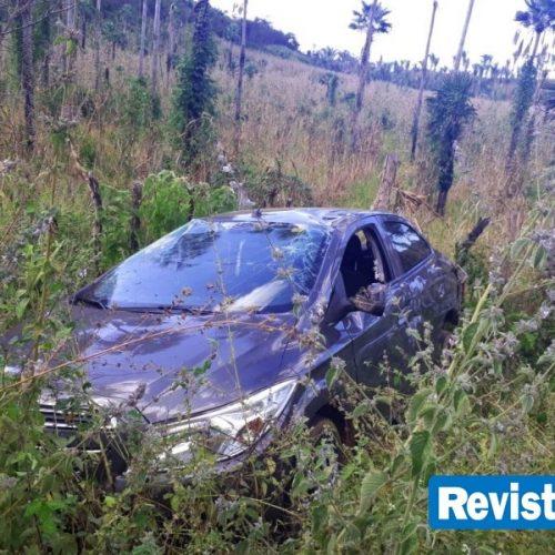 Carro capota com cinco pessoas e deixa vereador ferido no Norte do Piauí
