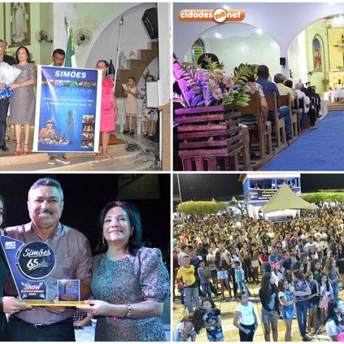 No 3º dia de eventos, aniversário de Simões é comemorado com missa, show de calouros e festa