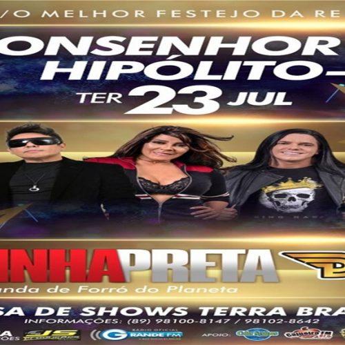 Banda Calcinha Preta se apresenta em Monsenhor Hipólito dia 23 de julho