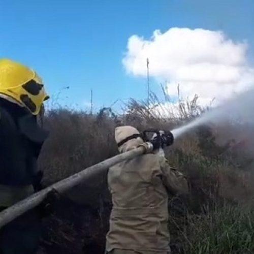 Princípio de incêndio próximo a terminal rodoviário no PI assusta moradores