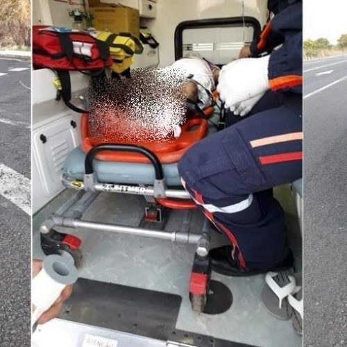 PI: Idoso fica ferido após ser colhido por veículo na BR-343