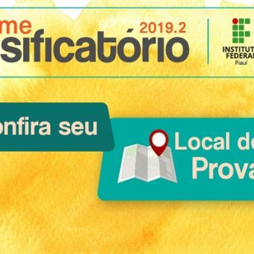 IFPI divulga os locais de prova do Exame Classificatório 2019.2 em quatro cidades