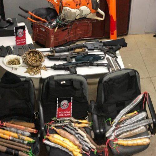 Grupo é preso com materiais usados em explosões a banco