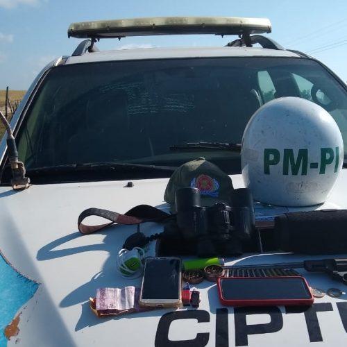 PM prende suspeito com arma de fogo e munições no Piauí
