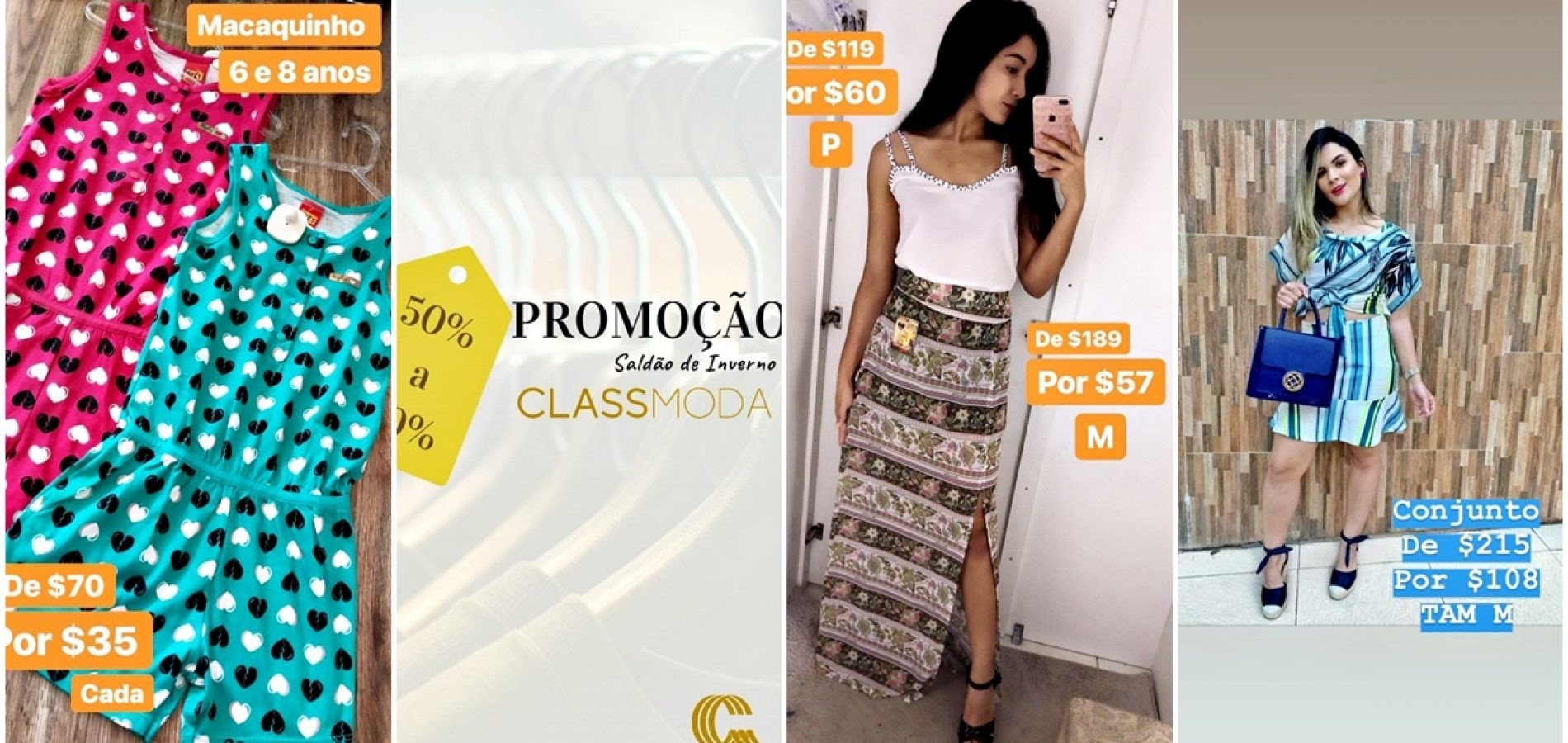 ARARIPINA│Loja Class Moda lança promoções com até 70% de descontos. Confira!