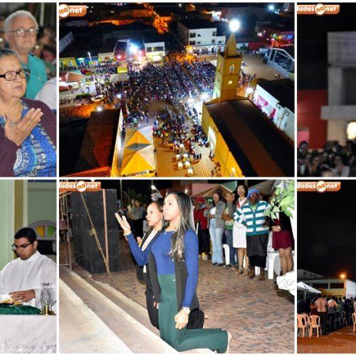 Novena, missa e show católico marcam a 8ª noite dos festejos de Marcolândia; veja fotos