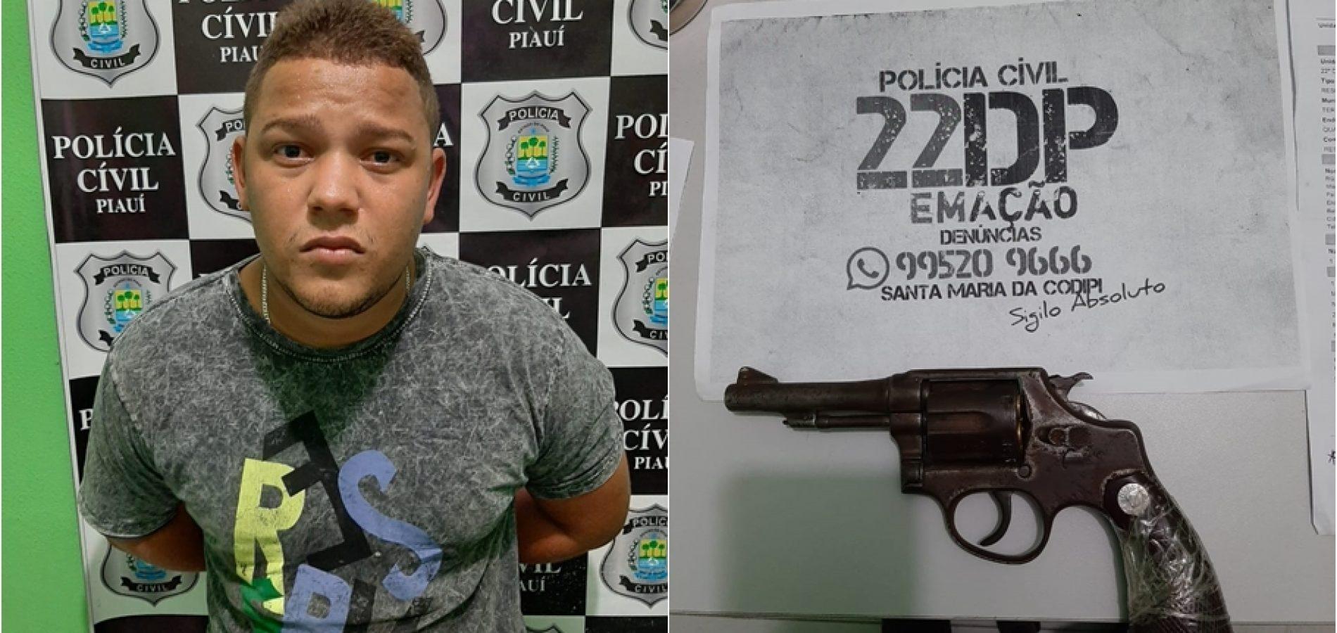 Suspeito tenta atirar contra policiais e é baleado em Teresina