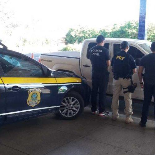 PRF e Polícia Civil recuperam na BR-230 veículo com placas clonadas