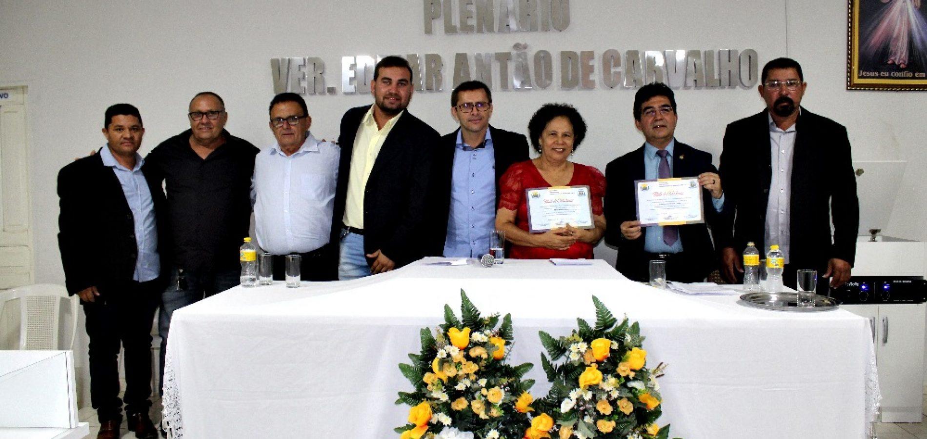 FRANCISCO MACEDO | Câmara entrega Títulos de Cidadania a vice-governadora Regina e ao deputado Limma; fotos