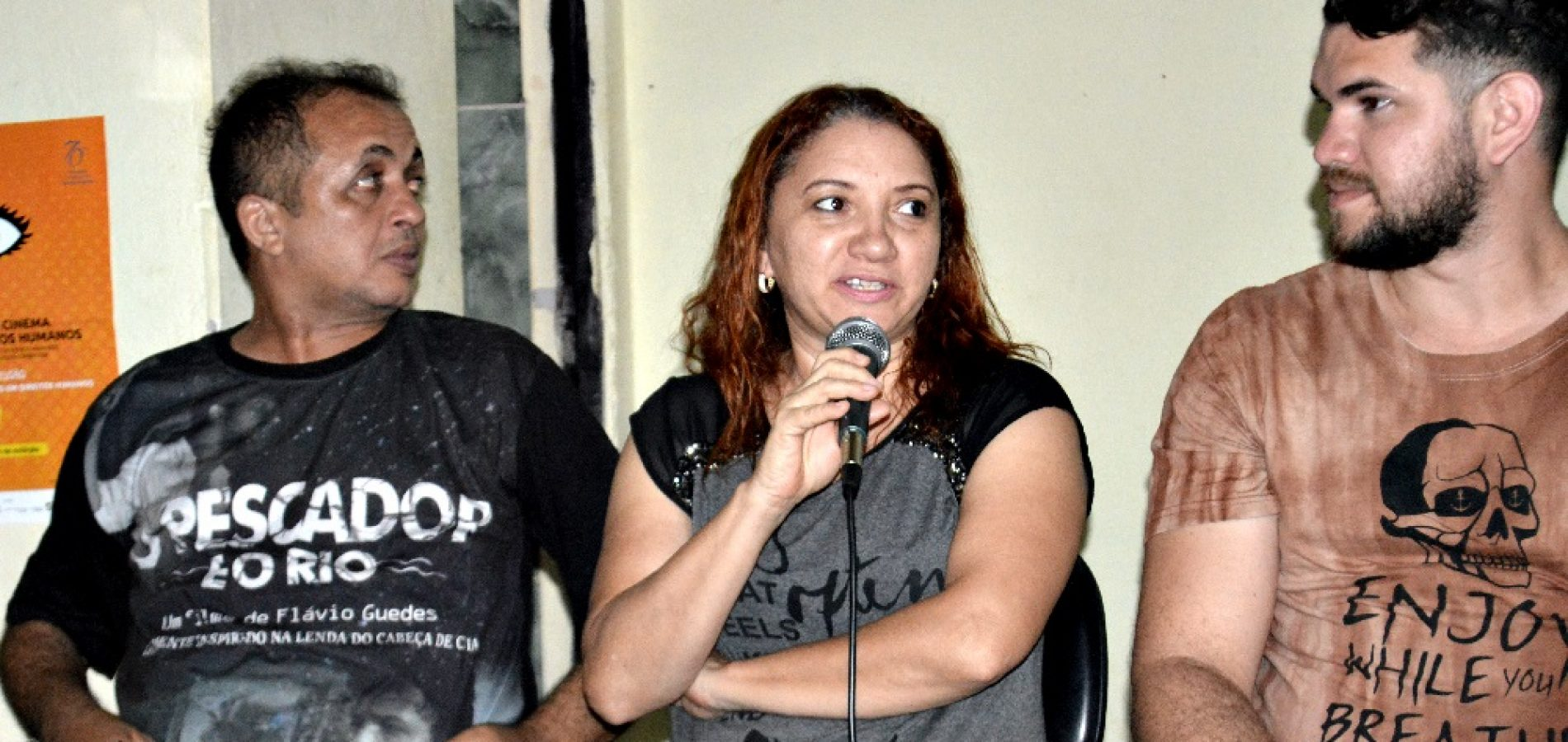 Cultura de Vila Nova abre 12ª Mostra de Cinema e Direitos Humanos com exibição do filme O Pescador e o Rio; fotos