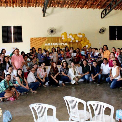 Saúde de Vila Nova do Piauí promove evento em alusão à campanha Agosto Dourado; fotos