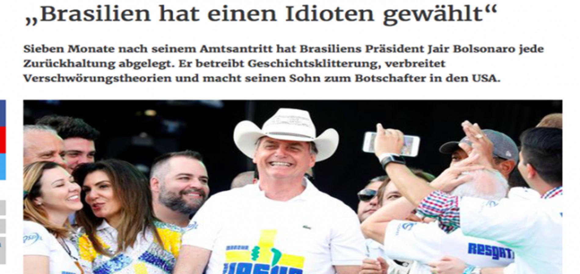 """""""O Brasil elegeu um idiota"""", diz um dos maiores e mais antigos jornais da Áustria sobre Bolsonaro"""