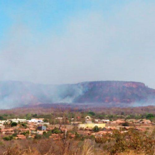 Controlado incêndio em cartão postal no interior do Piauí