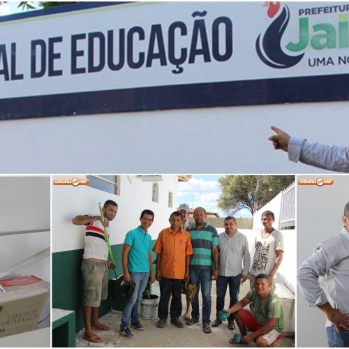 Prefeitura de Jaicós reforma Secretaria de Educação e vai reabrir Biblioteca Municipal