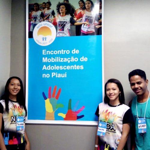 Em Teresina, jovens de Vila Nova do Piauí participam do I Encontro de Mobilização de Adolescentes dos NUCAs