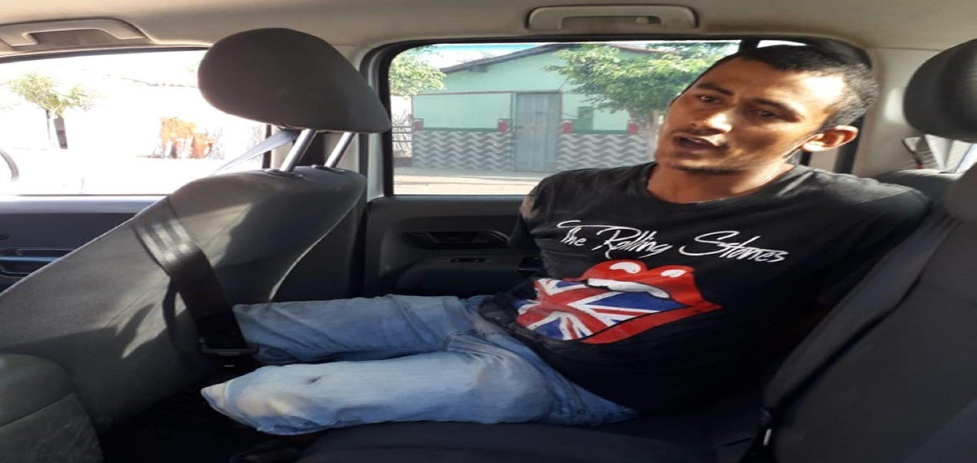 JAICÓS |  Homem é preso suspeito de agredir a esposa