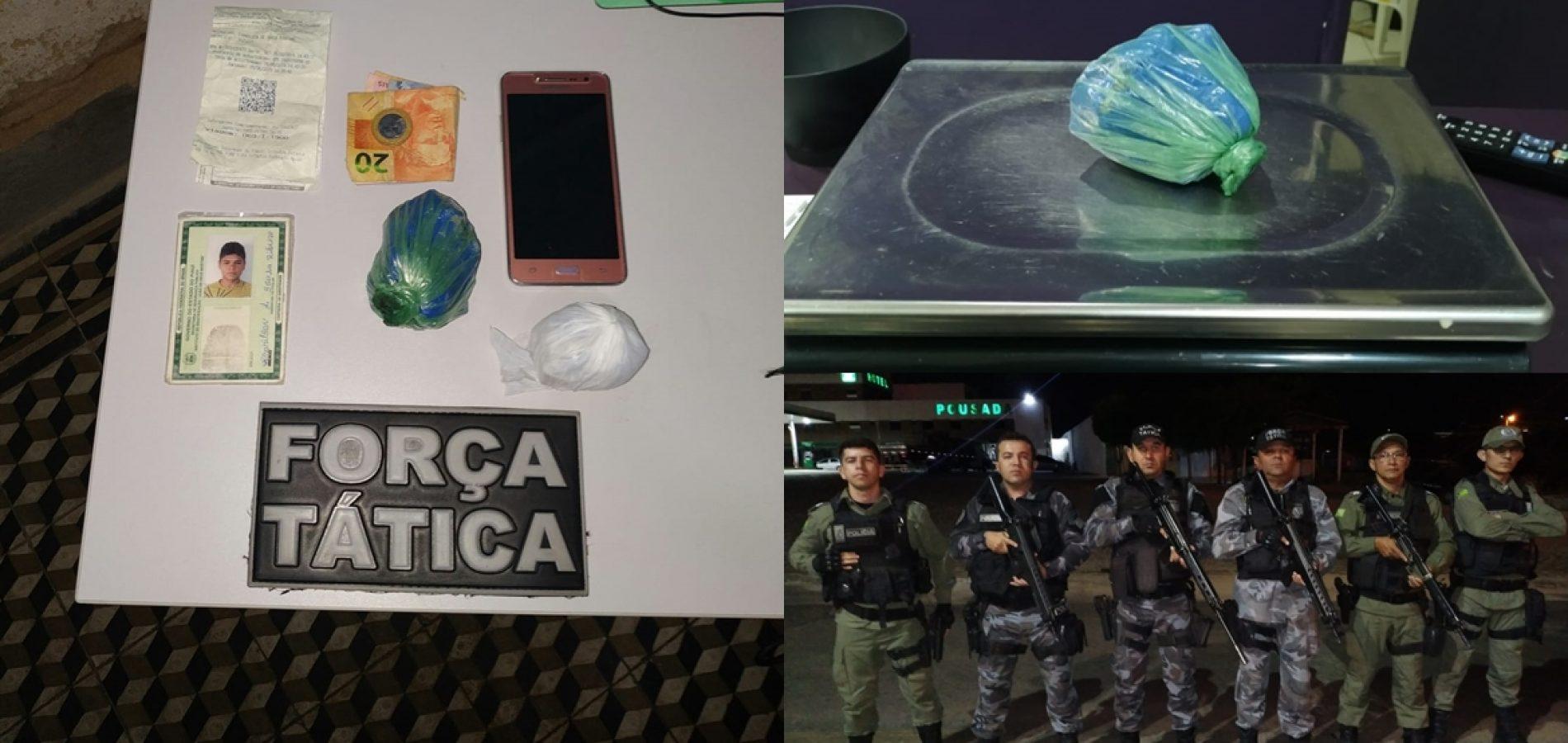 Homem de Caridade do PI é preso com mais de R$ 2 mil em drogas na BR 407 em Paulistana