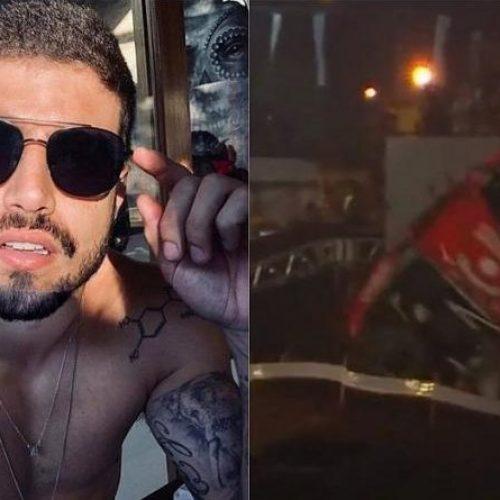 Caio Castro sofre acidente e capota carro em competição de rally