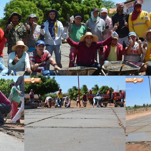Prefeitura investe na infraestrutura de localidades e constrói3ª praça na zona rural de Padre Marcos