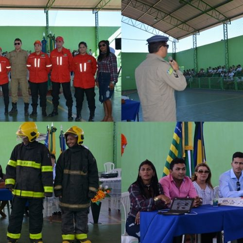 Em parceria com a Prefeitura, Corpo de Bombeiros promove palestra e orienta para a prevenção e combate a incêndios Florestais em Geminiano