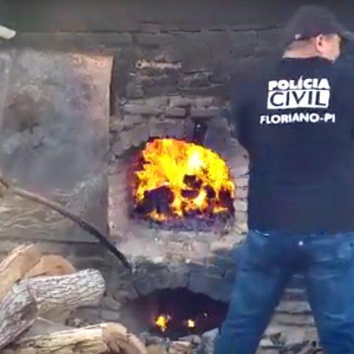 Polícia Civil incinera droga avaliada em quase R$ 500 mil na cidade de Floriano
