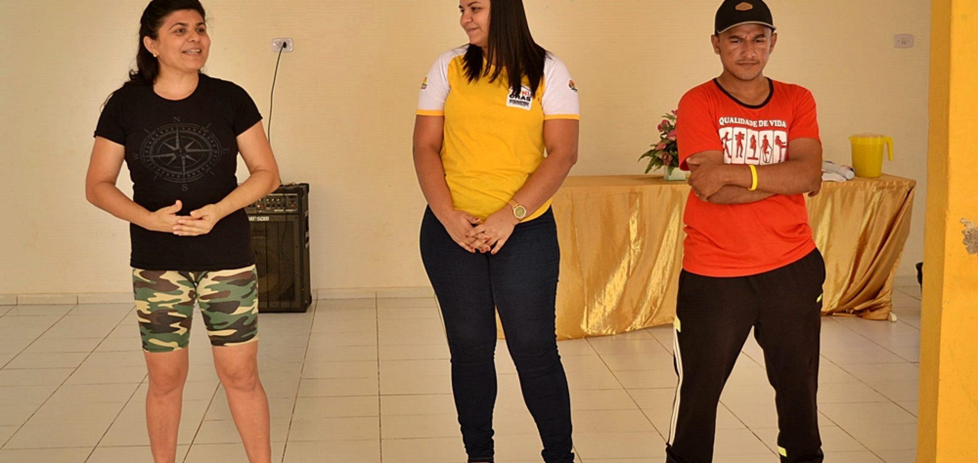 Social de Curral Novo promove aulão de ritmos com as mamães do CRAS