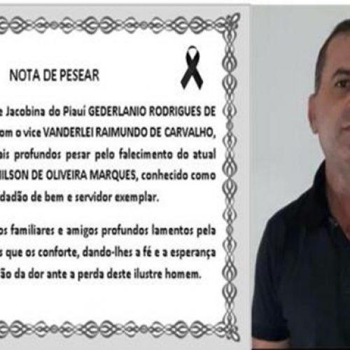 JACOBINA | Prefeito GD divulga nota de pesar e decreta luto de três dias pela morte de servidor público