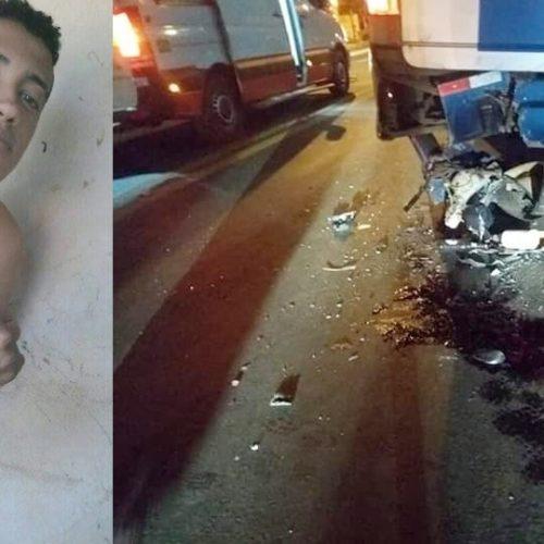 Jovem morre após colidir em traseira de ônibus em Picos