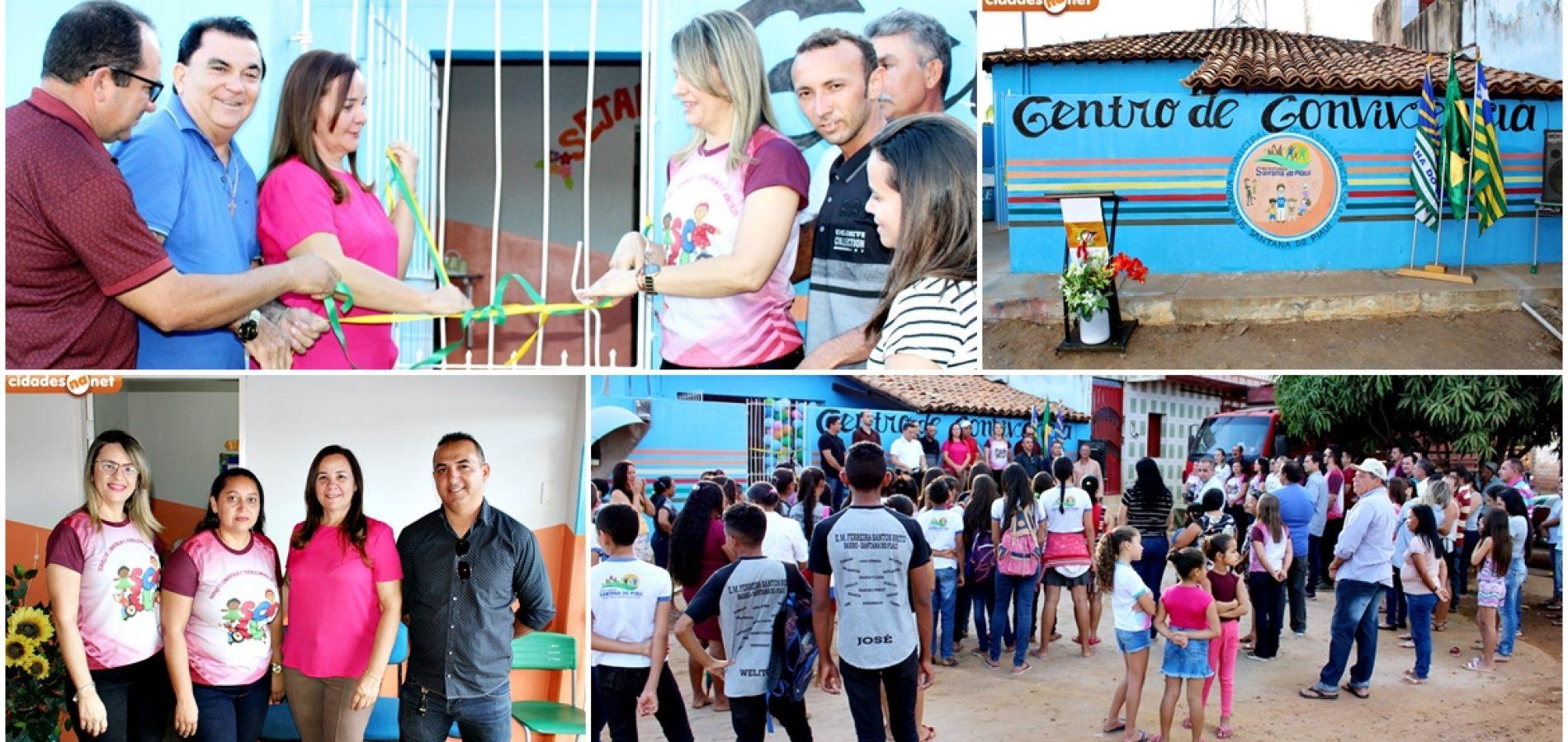SANTANA│Gestão da prefeita Maria José reinaugura Centro de Convivência no povoado Barro; fotos