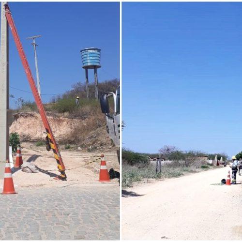 VILA NOVA│Equatorial faz manutenção e amplia rede de energia em avenida do povoado São João Batista