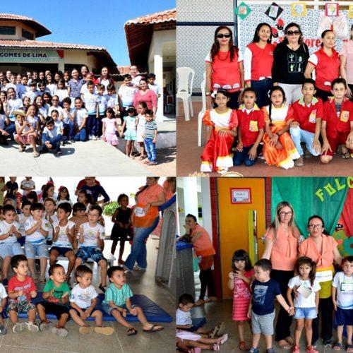 Em Vila Nova, escolas levam crianças ao Cinema, celebram o Dia do Estudante e do Folclore