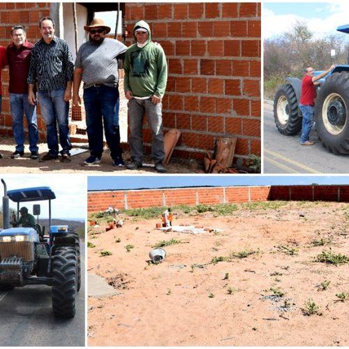 Prefeitura de Alagoinha faz roço da PI-455 que dá acesso a BR-316, reforma e constrói cemitérios na zona rural