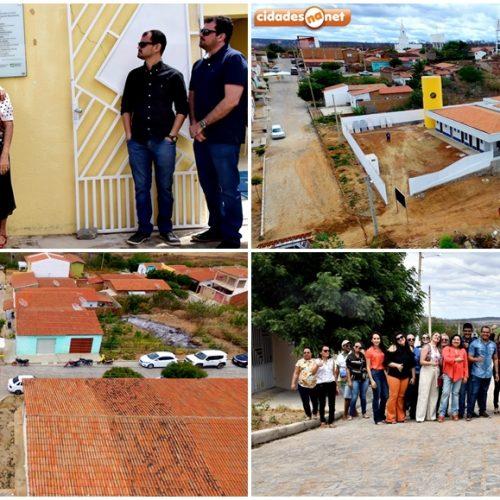 PIO IX 130 ANOS   Prefeita inaugura CREAS, 12 mil metros de calçamentos e visita obras de Creche Municipal; fotos