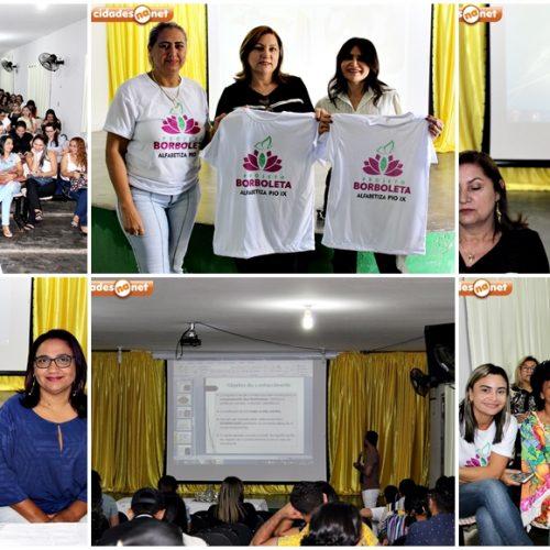Educação de Pio IX trabalha projeto Borboleta no Encontro Pedagógico 2019.2 com palestras e oficinas; fotos