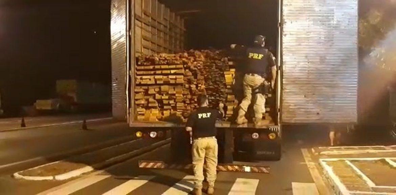 PICOS | PRF apreende veículo de carga com madeira sem licença ambiental válida na BR 316