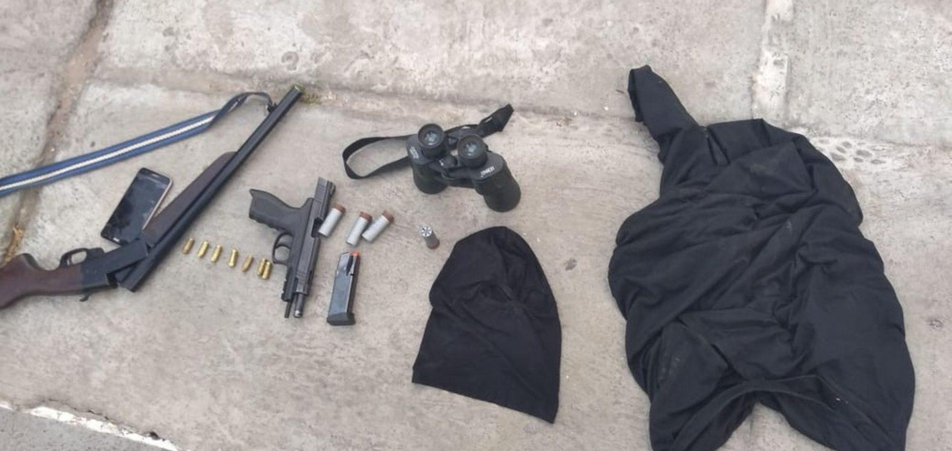 Quatros homens são presos com pistola e munições de uso restrito da Polícia Militar do Piauí