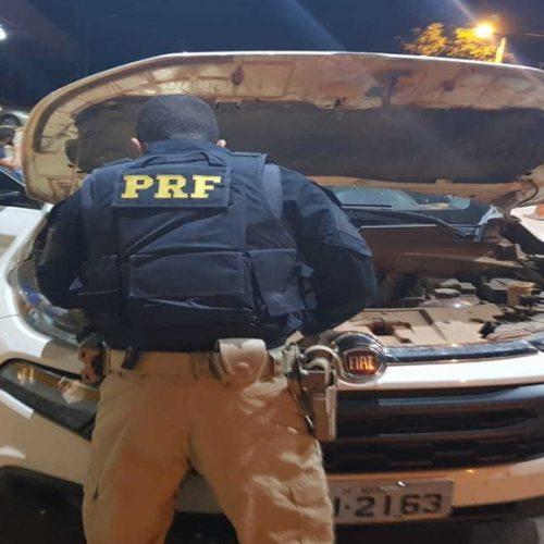 Veículo tomado de assalto é recuperado pela PRF na rodovia BR-343 em Floriano