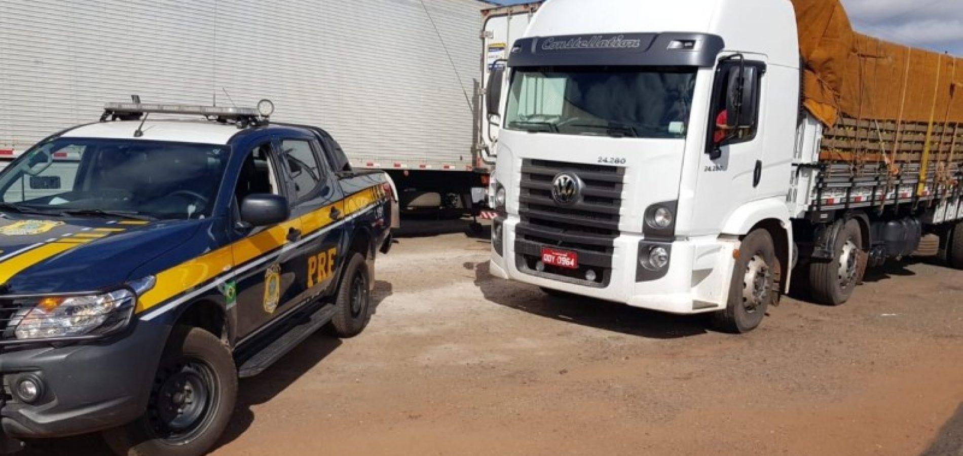 IPIRANGA-PI   PRF recupera caminhão roubado há quatro anos em SP