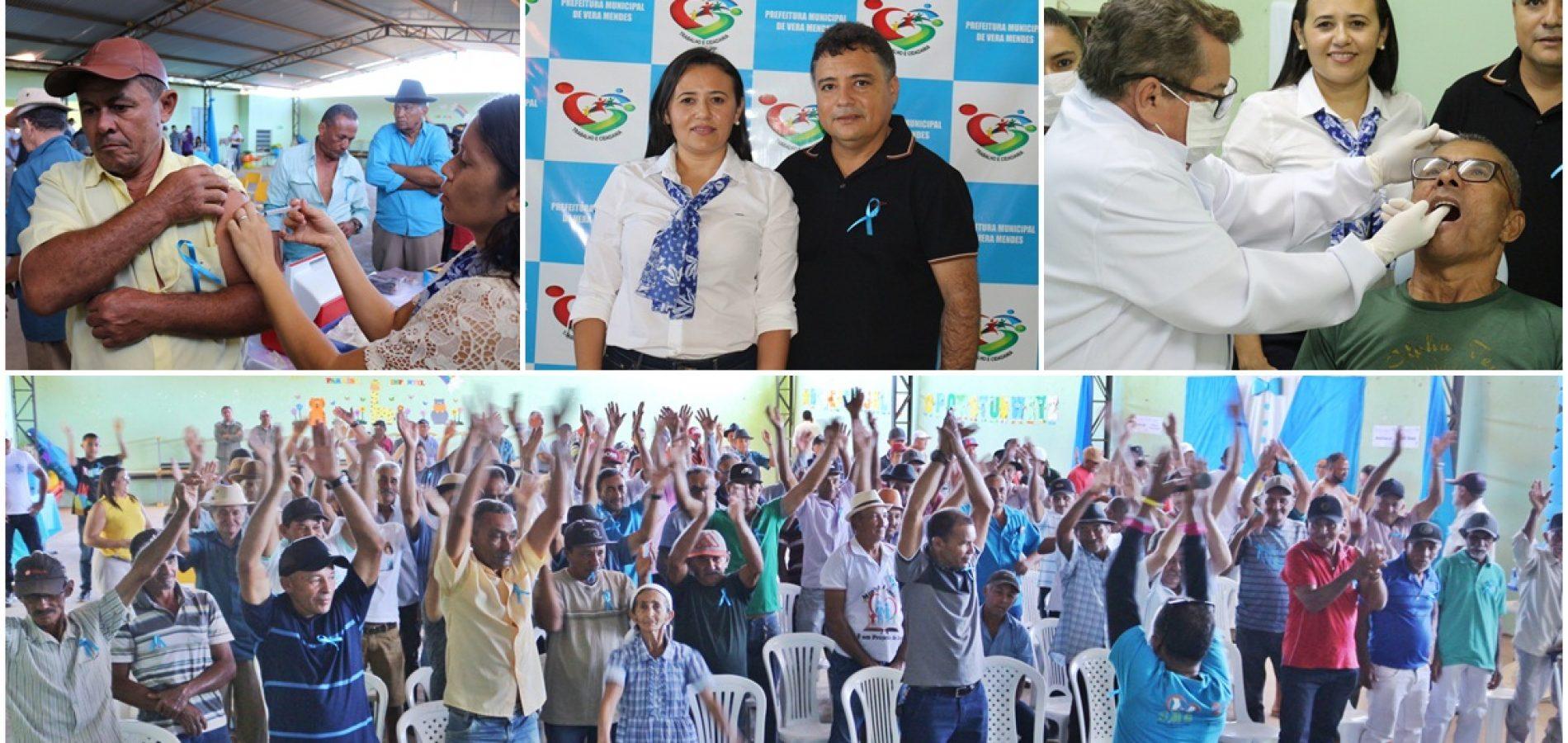 Prefeitura de Vera Mendes homenageia pais e promove dia de cuidados com a saúde do homem