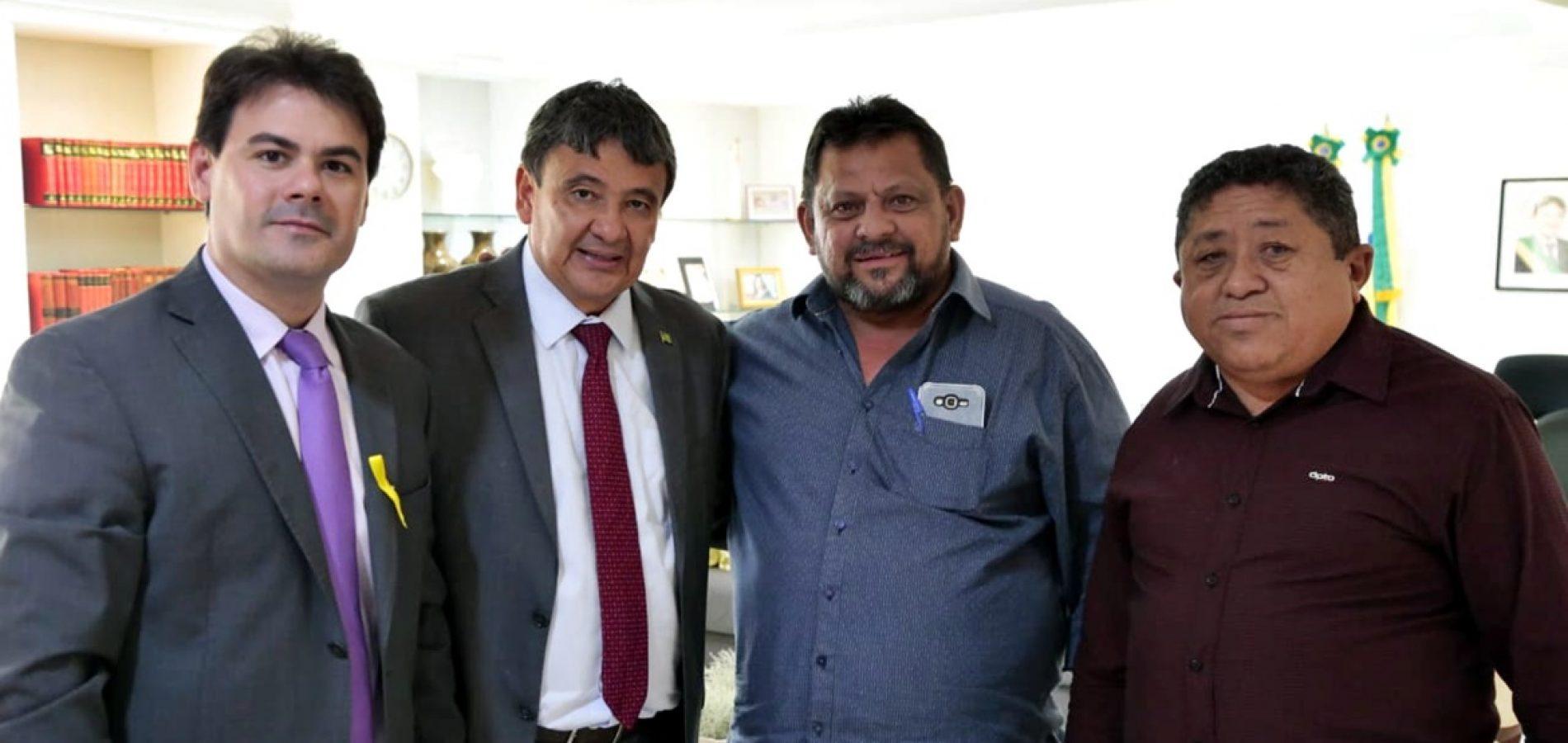 Em audiência com o prefeito Ademar, governador W. Dias garante recapeamento asfáltico da PI 243