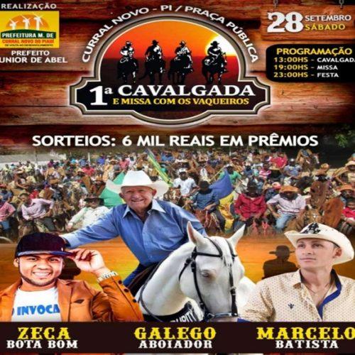 1ªCavalgada e Missa com Vaqueiros será realizada em Curral Novo do Piauí com shows e 6 mil em prêmios