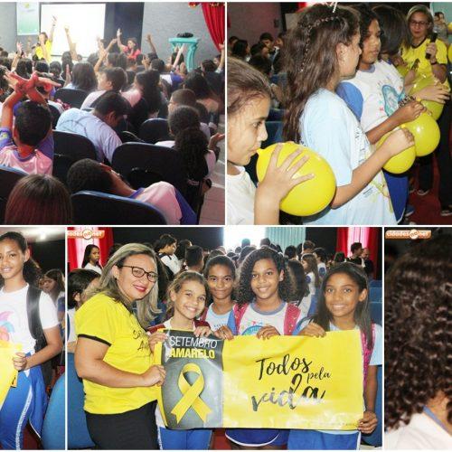 JAICÓS   Palestra aborda sobre valorização da vida e conscientiza alunos da Escolinha Pequeno Polegar