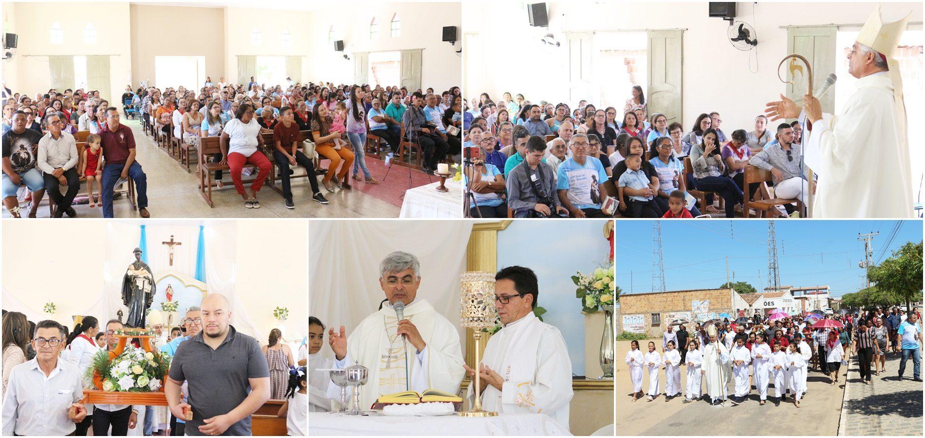 Missa solene e procissão encerram 30ª Festa de São Benedito em Campo Grande do Piauí