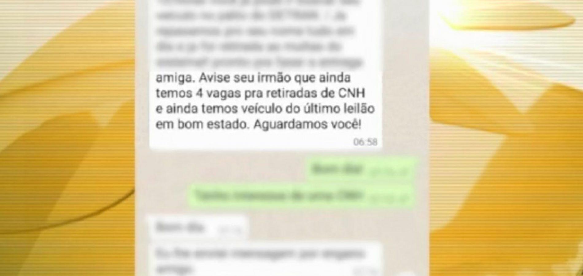 CNHs são vendidas a R$ 600 em golpe pelo WhatsApp no PI